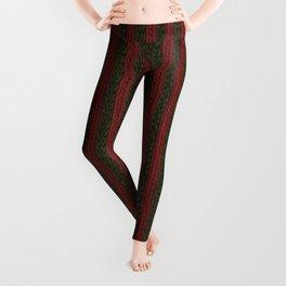 Cable Knit Stripe Leggings
