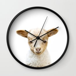 Baby Lamb Portrait Wall Clock