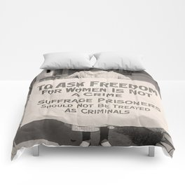 Freedom For Women Is Not A Crime Comforters
