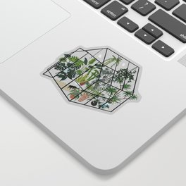 greenhouse with plants Sticker