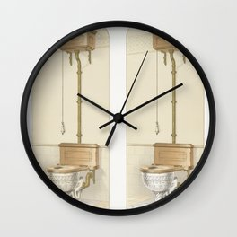 Vintage  of The Indoro Embossed published in 1888 by JL Mott Iron Works Wall Clock