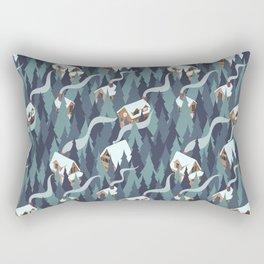 Forest Cabins Rectangular Pillow