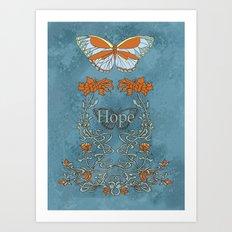 Butterfly Hope Art Print