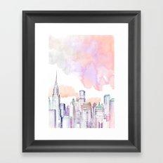 Pastel NYC Framed Art Print