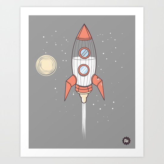 Bottle Rocket Art Print