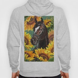 Horse with Sunflowers Hoody