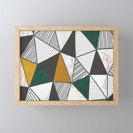 triangle pattern Framed Mini Art Print