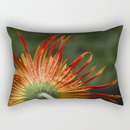 Orange Triple Gerbera  Rectangular Pillow