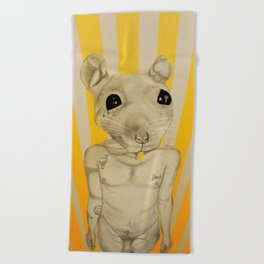 Common Street Rat Beach Towel
