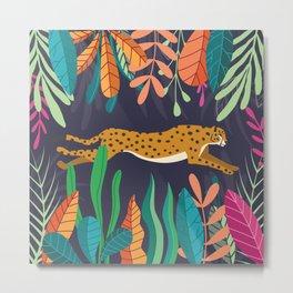 Cheetah running in the wild Metal Print