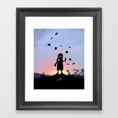 Joker Kid Framed Art Print