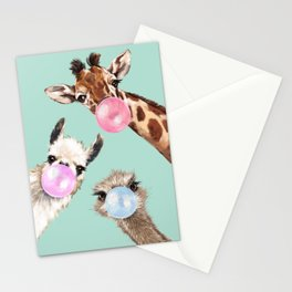 Bubble Gum Gang in Green Stationery Cards