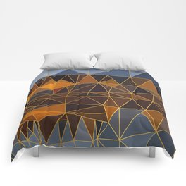 Autumn abstract landscape 3 Comforters