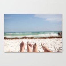 Feet in the Sand Canvas Print