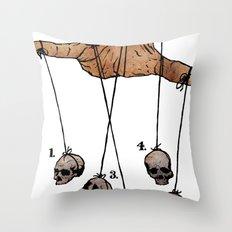 The Five Dancing Skulls Of Doom Throw Pillow