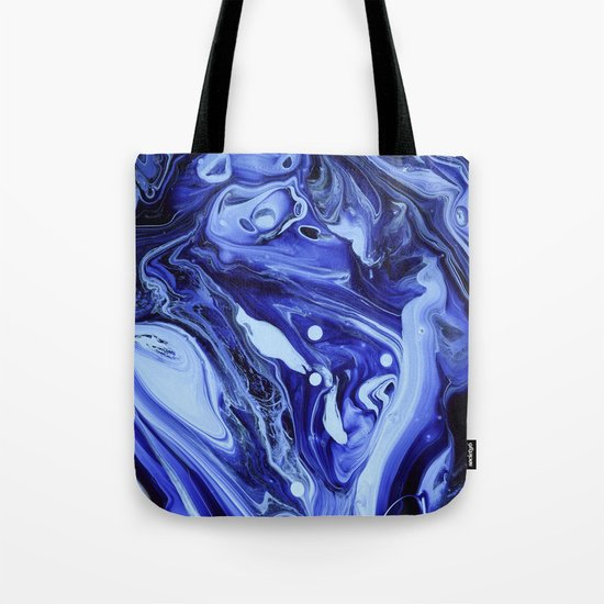 MIDNIGHT BLUE MARBLE Tote Bag