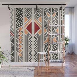 Tribal ethnic geometric pattern 034 Wall Mural