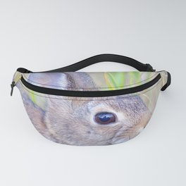 Watercolor Mountain Cottontail Rabbit 2 Fanny Pack