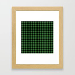 Classic Green Country Cottage Summer Buffalo Plaid Framed Art Print