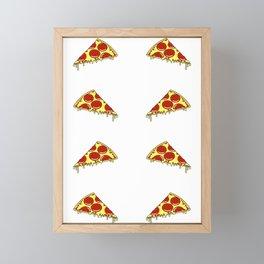 Pizza Slice Pattern Framed Mini Art Print