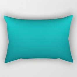 Petrol turquoise graphic pattern Rectangular Pillow