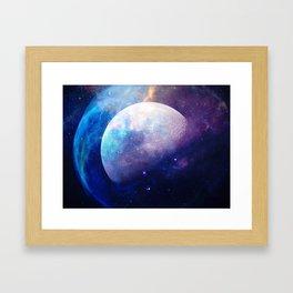 Galaxy Moon Space Framed Art Print