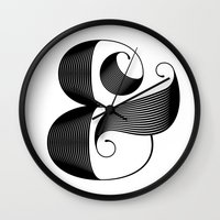 ampersand Wall Clocks featuring Ampersand by Jude Landry