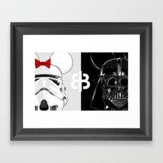 Mini Trooper vs. Vader Mouse Framed Art Print