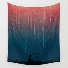 Meteor rain Wall Tapestry