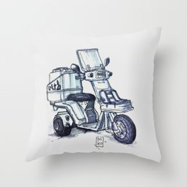Honda delivery scooter japan Throw Pillow