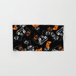 Video Game Orange on Black Hand & Bath Towel