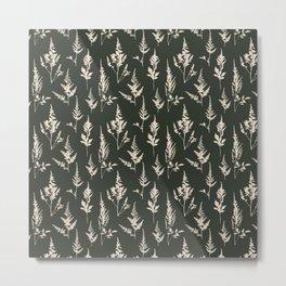 Astilbe Green Metal Print