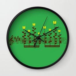 Music notes garden Wall Clock