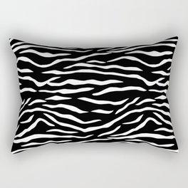 Black and White Jungle Big Cat Tiger Stripes Rectangular Pillow