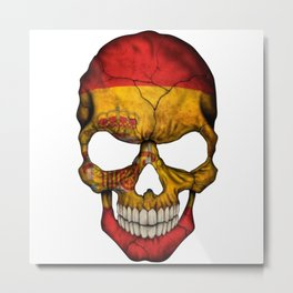 Exclusive Spain skull design Metal Print