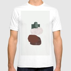 Green square MEDIUM Mens Fitted Tee White