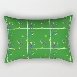 Tennis Rackets and Ball Rectangular Pillow