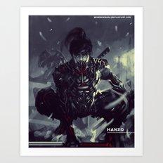 Darkfall Hanzo Exo Suit Art Print