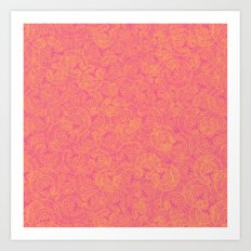 Transient half tone color blocking Art Print