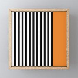 Liquorice allsorts, orange Framed Mini Art Print