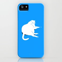 Digital dreams of a house kitty. iPhone Case