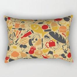 Food a background Rectangular Pillow