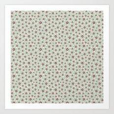Summertime wallflowers pattern Art Print