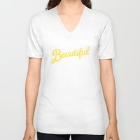 pocketfuel V-neck T-shirts featuring BEAUTIFUL IN TIME by Pocket Fuel
