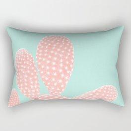 Apricot Blush Cactus on Mint Summer Dream #1 #plant #decor #art #society6 Rectangular Pillow
