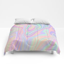 Liquid Colorful Abstract Rainbow Paint Comforters