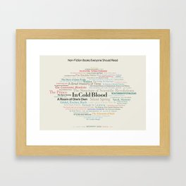 Non-Fiction Books Everyone Should Read Framed Art Print