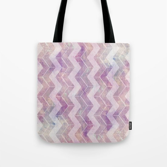 Watercolor pink pattern chevron Tote Bag
