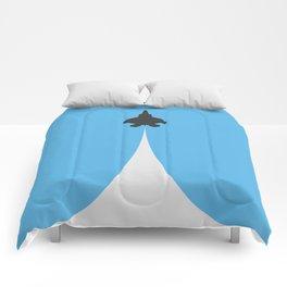 Fighter Jet Ascending - Vector Comforters