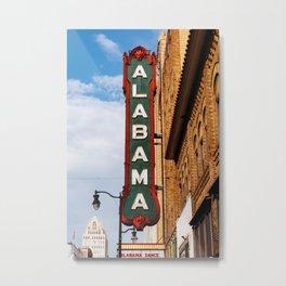 Alabama Marquee II Metal Print